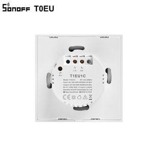 Image 5 - Sonoff T0 eu tx無線lanタッチウォールライトワイヤレススイッチスマートホーム1/2/3ギャング音声/appリモートコントロールの仕事alexa googleホーム