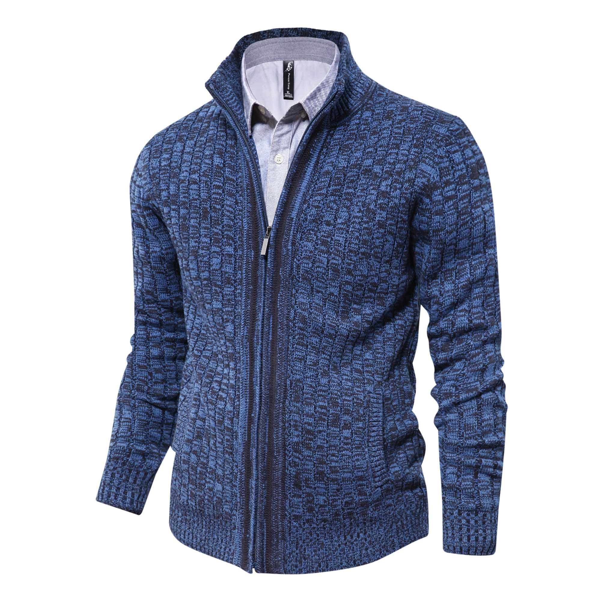 e6ada99e6 Pioneer Camp mens cardigan sweater famous brand clothing slim fit zipper  male sweaters top quality cardigan