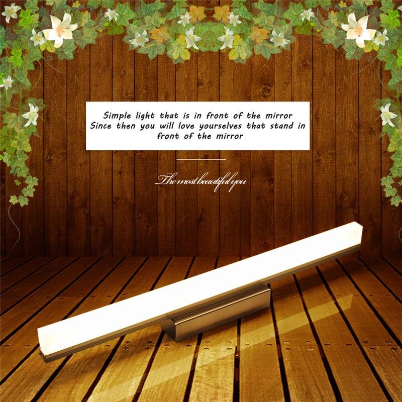 Больше Светодиодные зеркало света 9 Вт 39 см 12 Вт 49 см AC 85-260 В современные косметические акрил настенный светильник Ванная комната Освещение Водонепроницаемый