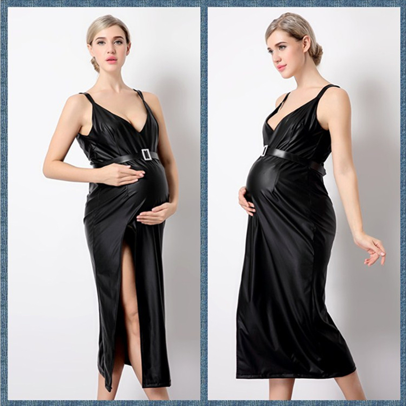 RQ New Summer V-Neck Maternity Dress Pregnancy Clothes Long Women Maternity photography Props maternity dress Q136 мфу canon maxify mb2140 0959c007