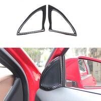 2x Real Carbon Fiber Door Speaker Frame Cover Trim For Benz A Class W176 13 17
