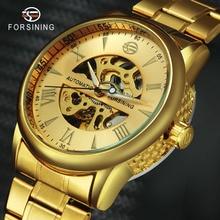aa6f33c016e VENCEDOR Das Mulheres Dos Homens Relógios de Luxo Banda de Aço Inoxidável  Mecânico Automático do relógio