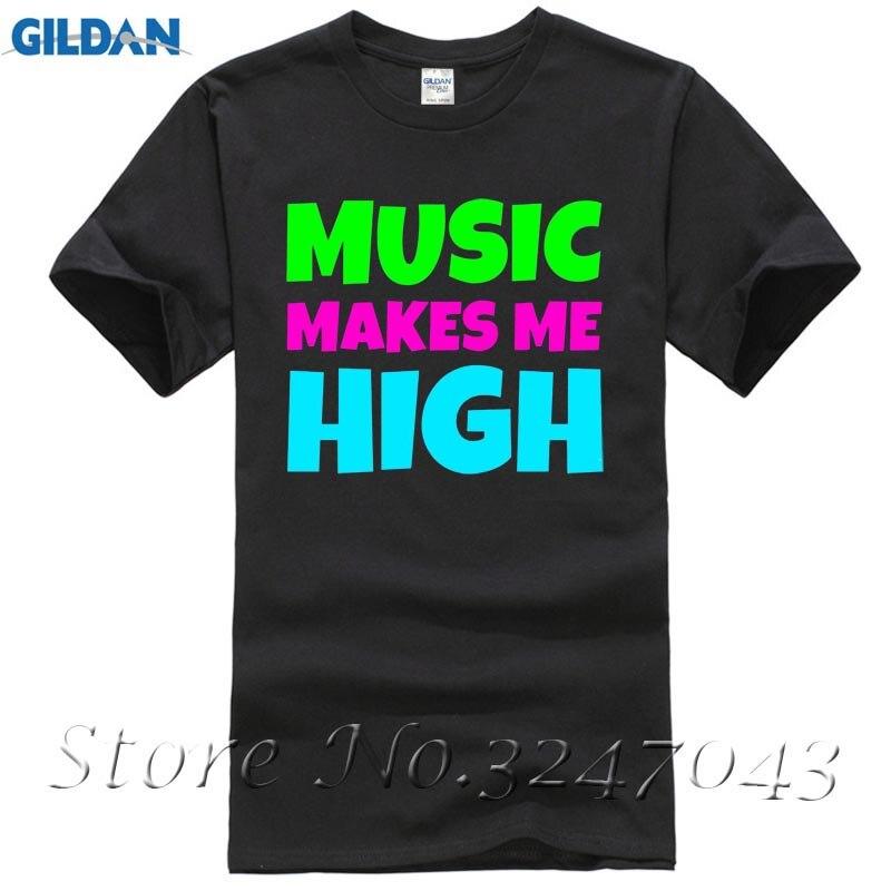 Music Makes Me High Hipsta Funny Geek Sawg Festival Mens T-Shirt Summer Fashion Funny Print T-Shirts