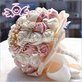 Beautiful Beading Crystal Bridal Bridesmaid Flower wedding bouquet artificial flower rose bouquet Crystal bridal bouquets
