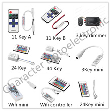 LED Strip Light Mini 3/24/44 Key IR Remote Wireless Controller Wifi RGB Controler DC12V MIni Wif 3 key For 3528 5050