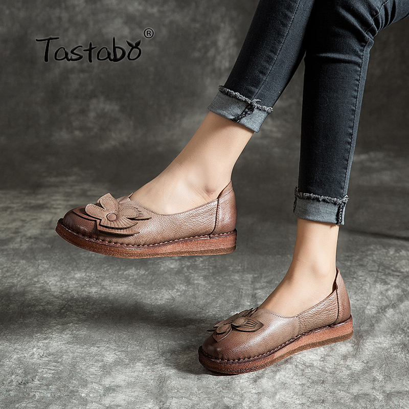 Tastabo Summer new women s shoes Large size flat shoes Leisure work Solid color decal design