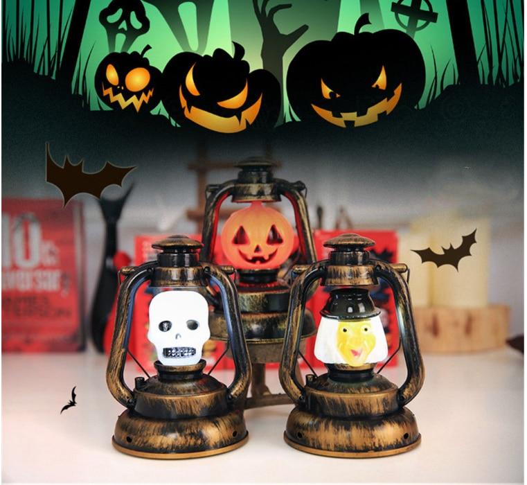 2019 Hot Sell Halloween Decorations  Lanterns Props Drop Ship Vocal Neon Lights Pumpkin Lights Night Light Ghost Lights Kerosene