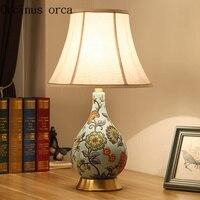 Новый китайский классический цветок птица, настольная лампа спальня ночники Американский Сад Настольная лампа Бесплатная доставка