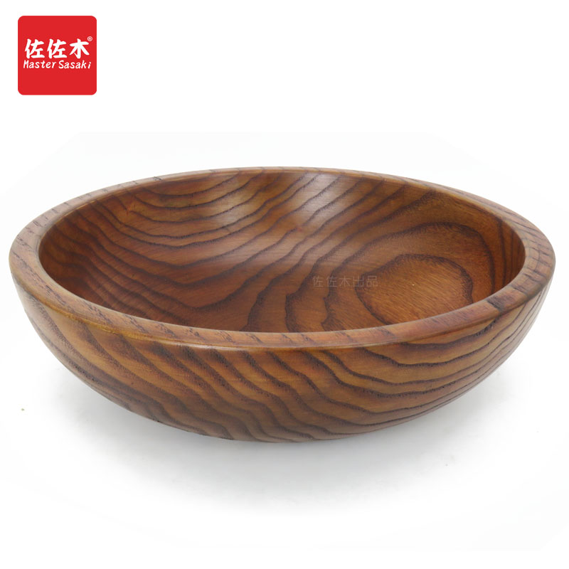 Direct sale of factories Western style large size whole wood Rice/Noodles/Sushi/Food/Sugar/Soup/Fruits/Vegetables wood bowl