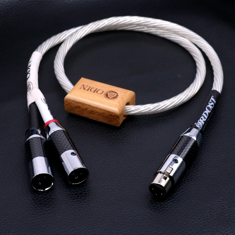 Hi-End Odin Supreme Reference 2 XLR Female To one XLR Male Plug splitter Audio Balanced Cable HIFI XLR Cable