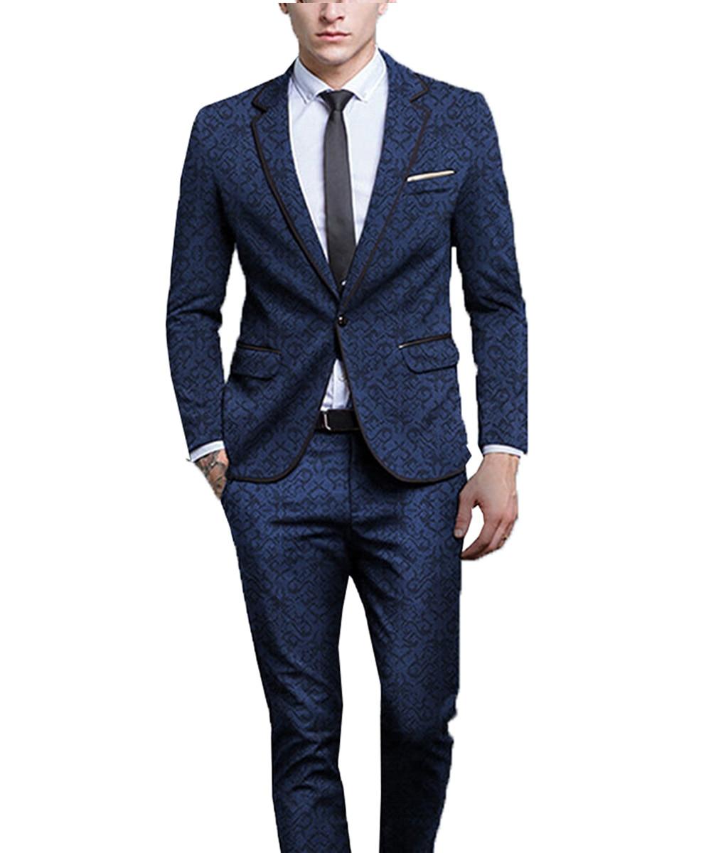 TPSAADE 2018 Latest Coat Pants Designs Royal Blue Men