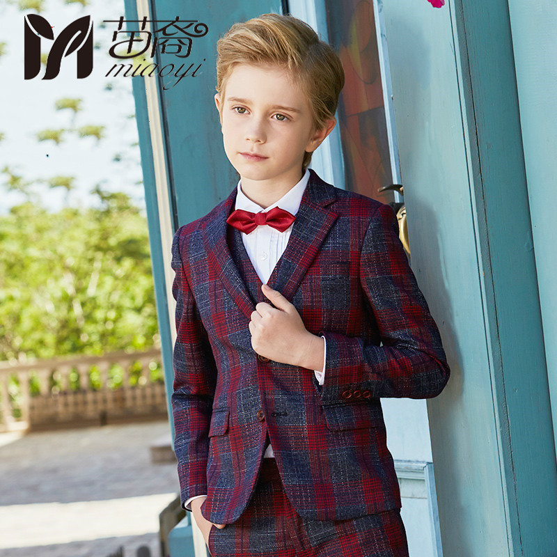 2018 New Style Boys suit suits children 's suits in the large England Style children' s jacket baby flower rushdie s midnights children