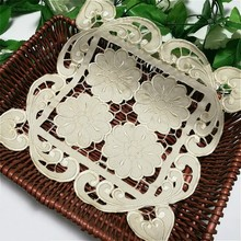 Modern Luxury Hollow Embroidery Placemat Tablecloth Furniture Multi-purpose Dust Cover Towel Coffee Cup Mat Christmas Wedding