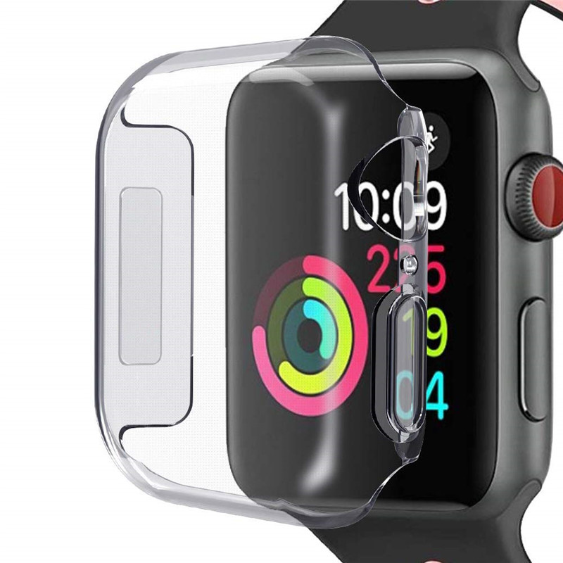 Watch Accessories for Apple Watch 40mm 44mm Case Tpu Soft Screen Protector font b Slim b