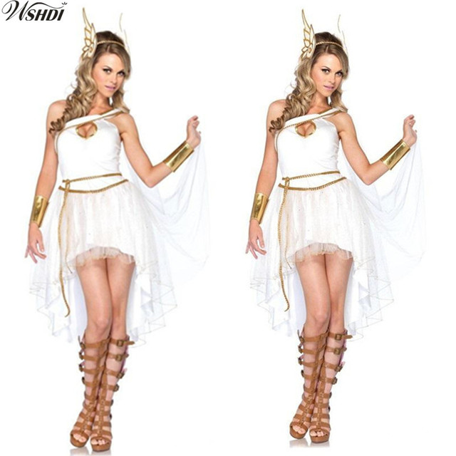 4PCS White Sexy Ancient Greek Goddess Costume Adult Woman Halloween Cosplay Roman Princess Fancy Dress  sc 1 st  AliExpress.com & 4PCS White Sexy Ancient Greek Goddess Costume Adult Woman Halloween ...