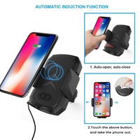 Qi Car Charger Wireless Charger for Samsung S9 iPhone Automatic Mobile Phone Support 10w Fast Wireless Car Charger Phone