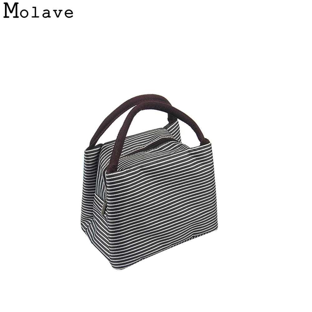 Striped Cold Insulation Bag Lunch Bags Danibos Solid Ice Pack Lunch Tote Bag Travel School Zipper Picnic Lunch Bag SEPP29 сумка холодильник packit 0010 mini lunch bag