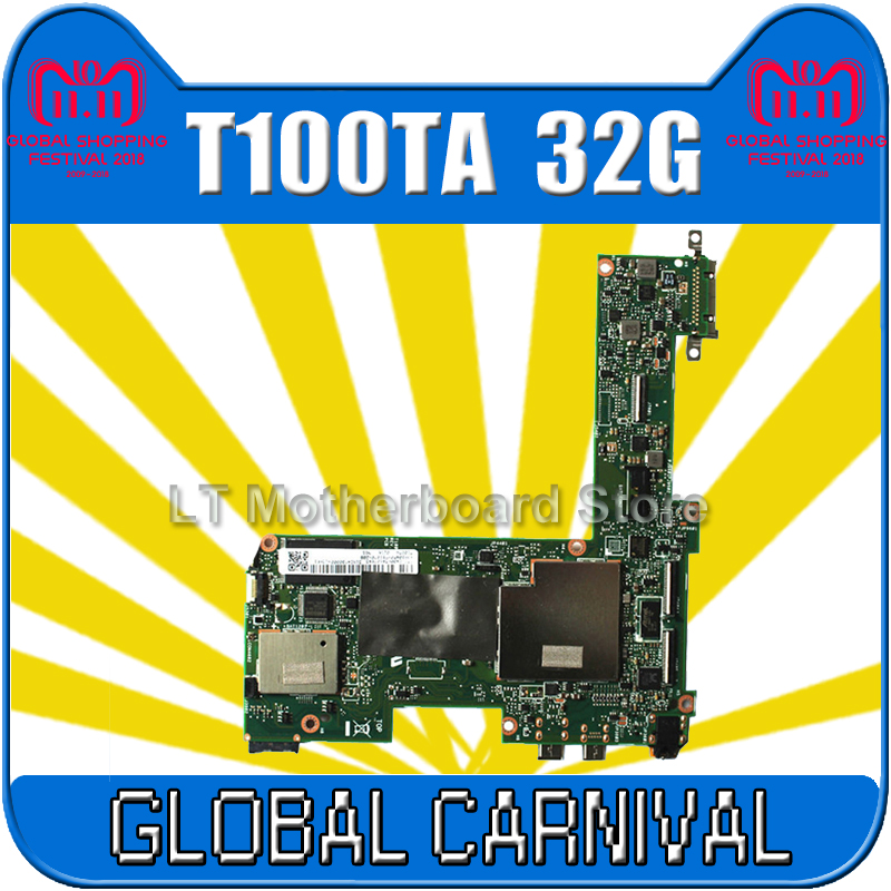 send board+For Asus Transformer T100TA Tablet Motherboard 32GB Atom 1.33Ghz CPU 60NB0450-MB1070 Mainboard 100% tested send board t100ta motherboard 64gb for asus t100ta t100taf t100t laptop motherboard t100ta mainboard t100ta motherboard test ok