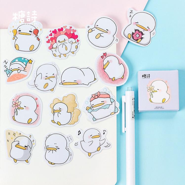 45 Pcs/lot Cute Little Duck Mini Sticker Decoration DIY Scrapbooking Sticker Stationery Kawaii Diary Label Stickers