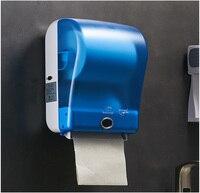 Туалетный датчик бумажная рулонная бумага держатель автобумага диспенсер бесконтактная коробка для рук белый цвет
