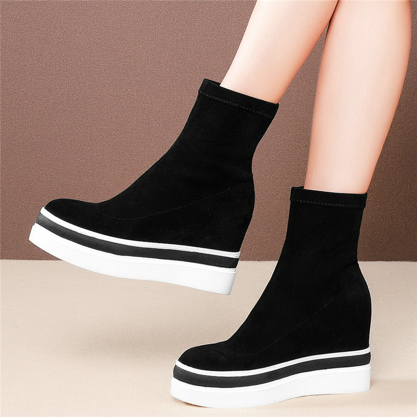 High Heel Sneakers Casual Shoes