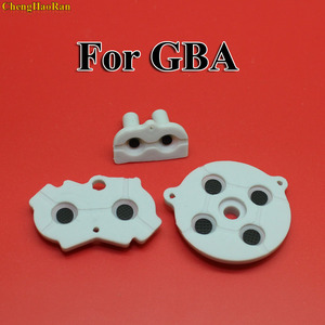 Image 1 - 30 100 مجموعات جديدة ل GBA المطاط موصل لاصق أزرار الوسادة لعبة بوي الكلاسيكية GBA سيليكون بدء اختيار لوحة المفاتيح