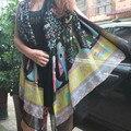 2016 New Spring Summer Luxury Brand for Women Fashionable Posey Milan Tassels Scarves Shawls Paris yarn Silk Scarf 180*100cm A25