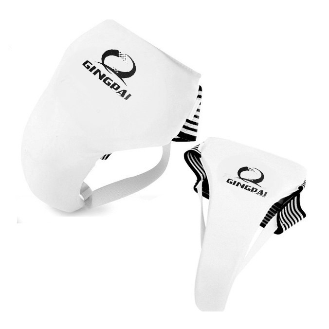 2016 Лидер продаж Новое поступление белая PU искусственная кожа таэквондо Groin Guard proector для взрослых детей Boxeo промежность протектор