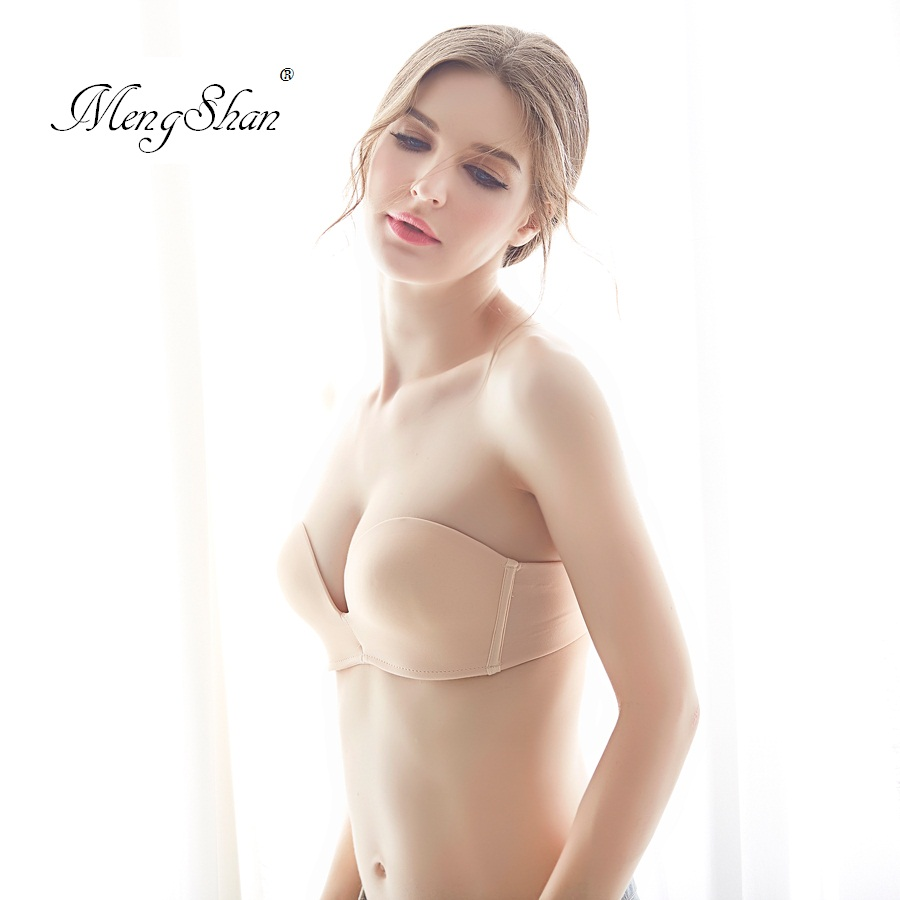 Thin half cup traceless wedding dress Invisible gathering without shoulder strap Wedding dress invisible underwear Lace bra in Bras from Underwear Sleepwears