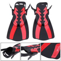 Unisex 2PCS Training Shoes Long Swimming Fin Webbed Diving Flipper Swimming Foot Flipper Tail Diving Feet