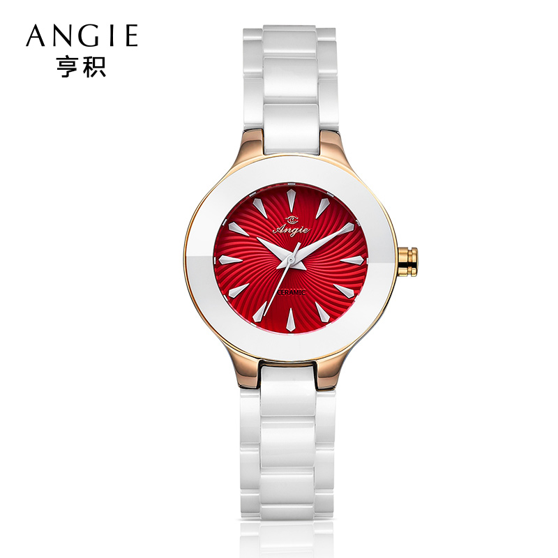 ФОТО Angie Fashion Luxury Brand Watch Women Quartz Ceramic Watch Ladies Bracelet Watches Waterproof Relogio Feminino Reloj Mujer