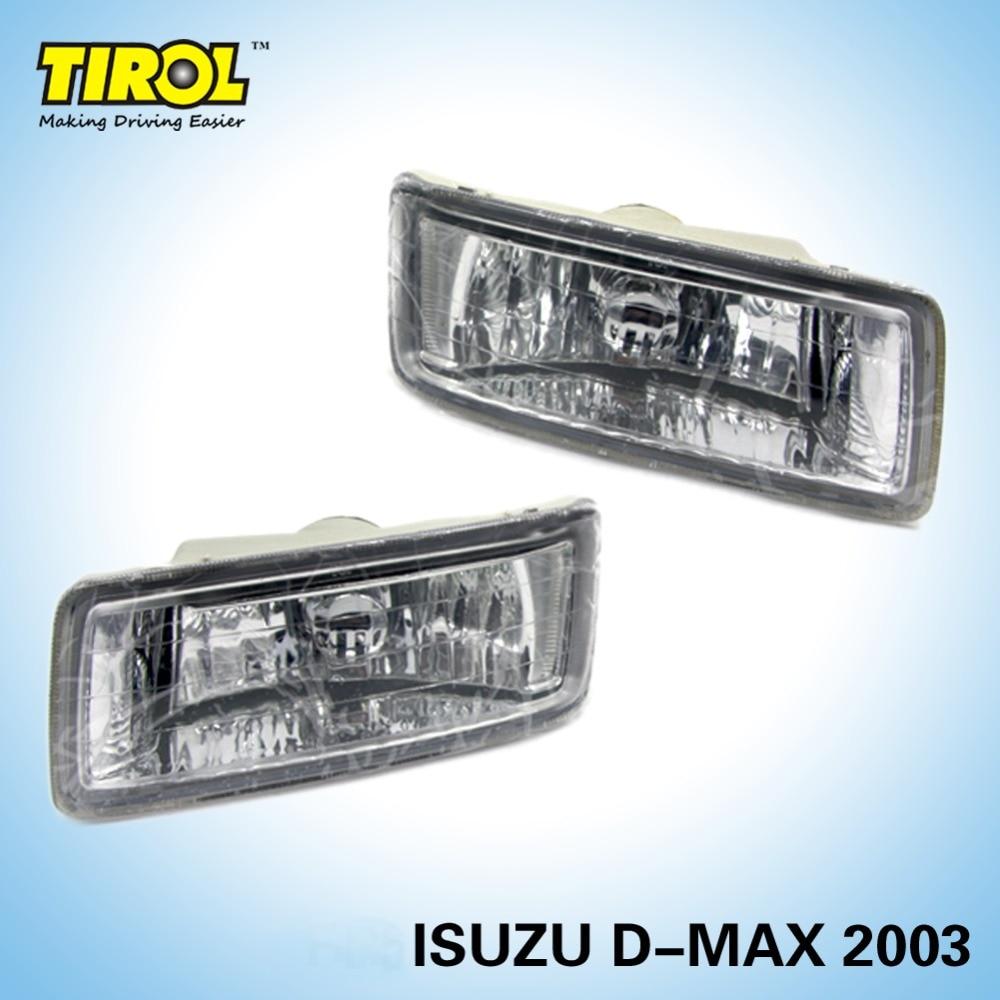 цены  Tirol T16575b Fog Light  kit OEM Replacement for NEW ISUZU D-MAX 2003 Pickup Truck Front Bumper Headlight Lamps Pair Car