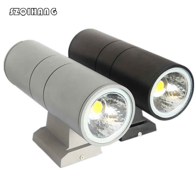 Double COB LED Wall Light 10W/20W /30W /40W LED Outdoor Wall Light Outdoor LED Wall Lamp Waterproof IP65 Gray Black Shell