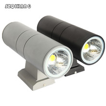 Double COB LED wall light 10W/20W /30W /40W Outdoor Wall Light Lamp Waterproof IP65 Gray Black Shell
