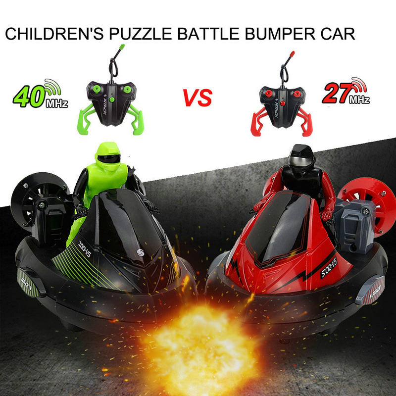High Speed Set of 2 Stunt Remote Control RC Battle Bumper Cars with Drivers Play Ready-To-Go RC Machine Toy For Boys robot control of large tanks against the remote car tank model child boy toy cars ready to go plastic battery operated