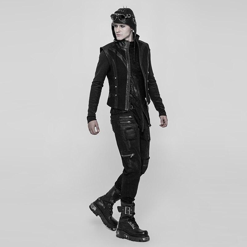 2019 Rave Punk Rock gótico Decadent personalidad Patchwork calle estilo moda hombres Pantalones WK339-in Pantalones casuales from Ropa de hombre    3