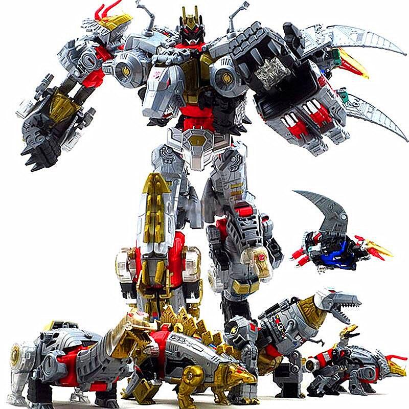 Dinoking Volcanicus Grimlock Slag Sludge Snarl Swoop Slash Dinobots 5IN1 Action Figure Robot Toys