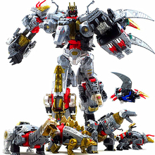 Dinoking Volcanicus Grimlock Slag Sludge Snarl Swoop slash Dinobots 5IN1 Action Figure Robot Toys in stock toy genuine version movie 4 leader class dinobots robot dinosaur tyrannosaurus grimlock with retail box