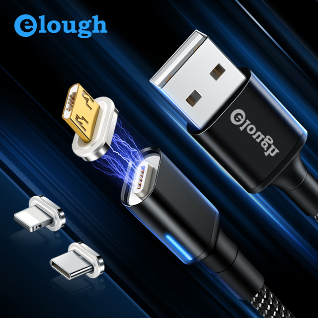 Micro USB Cable 3A Quick Magnet Charger USB Type C Cable