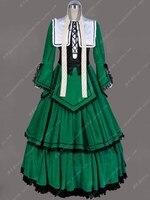 Tailored Cosplay Anime Rozen Maidencosplay Costume Green Dress Halloween Costumes For Women Gothic Victorian Ball Costume
