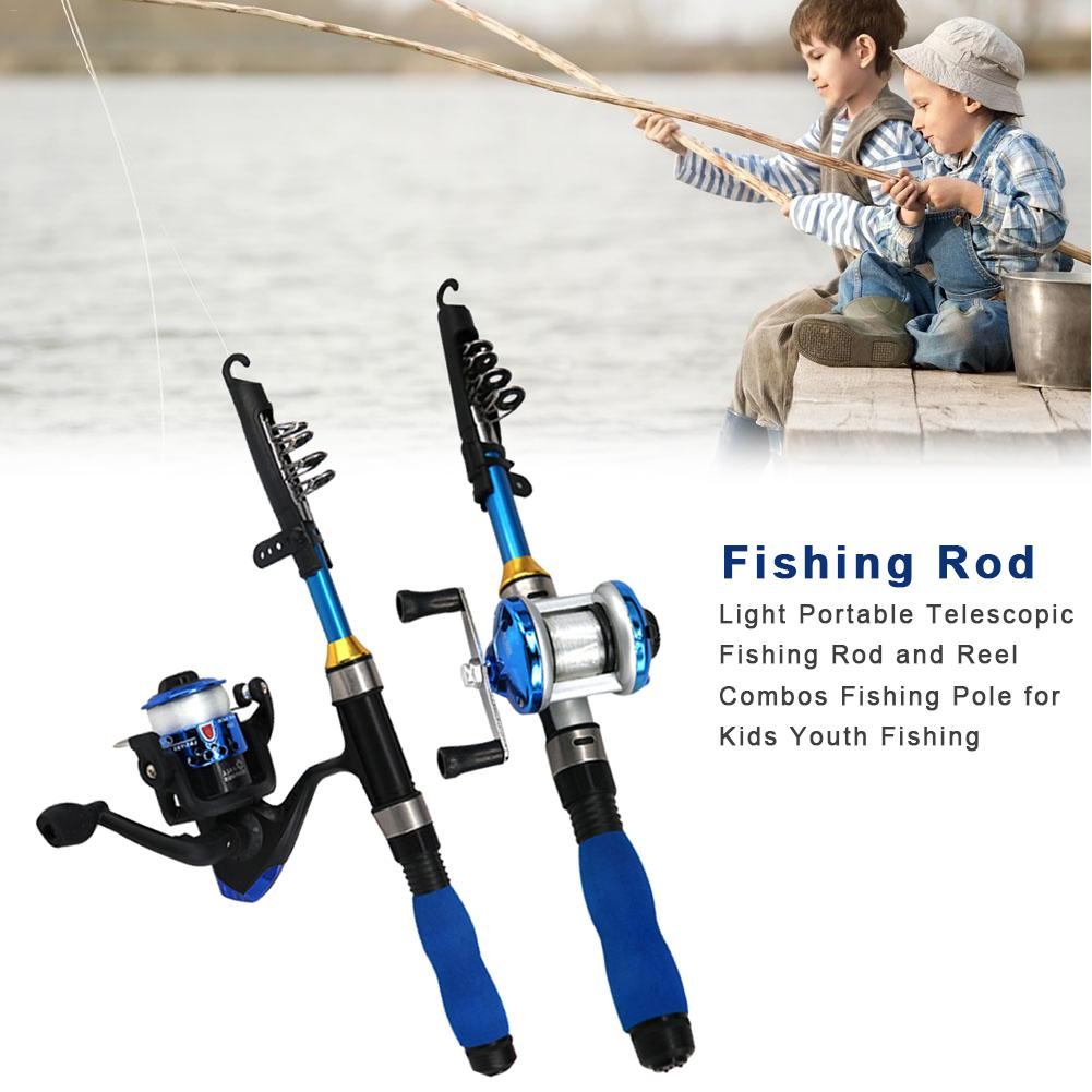 Light Portable Telescopic Fishing Rod And Reel Combination Beginner Fishing Rod For Kids Teen Fishing Rod Set image