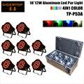 8IN1 Flightcase Pack 18X12W RGBW Led Par Light 4/8 Channels 220W Led Par Cans LED Display DMX Input Output Building Wall Wash