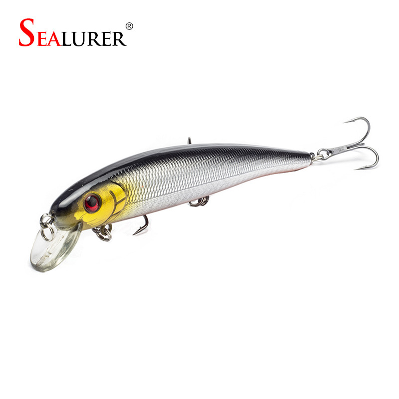 Sealurer Brand Lifelike Minnow Fishing Lure 13CM 19G Wobbler Carp - Kalapüük