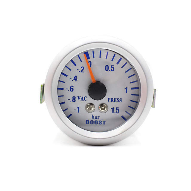 52mm Universal White LED Auto Car Boost Meter Bar Turbo Boost Pressure Gauge/Auto Gauge /Car Meter YC100024