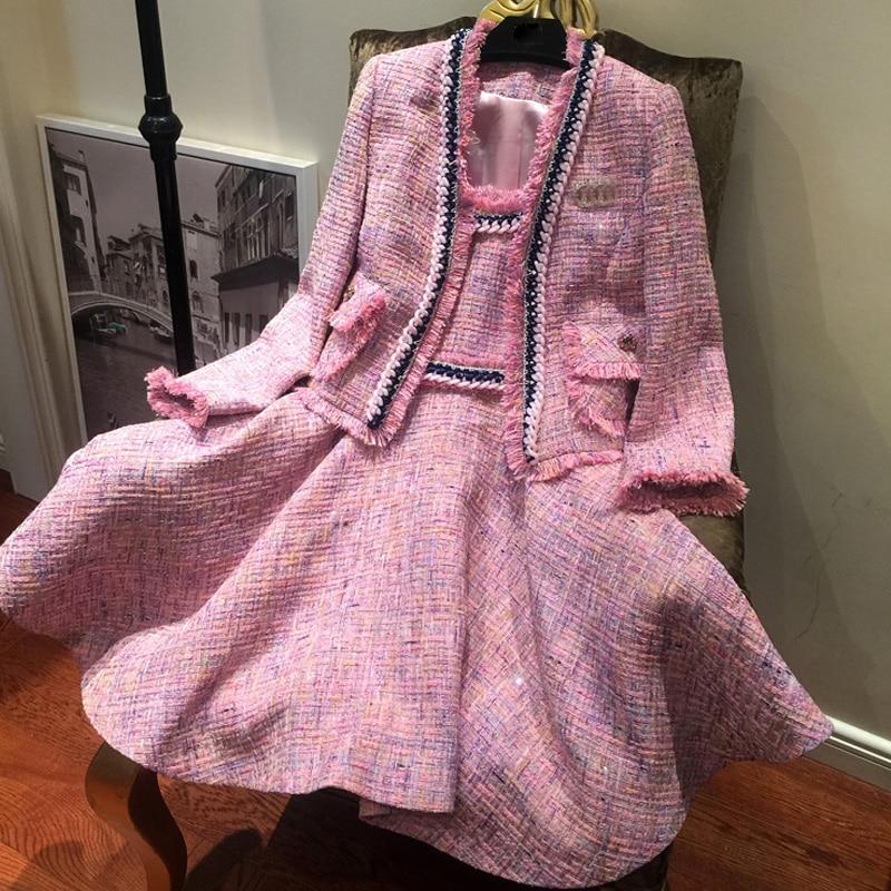 Beautiful Jacket And Dress Set - Jacket To