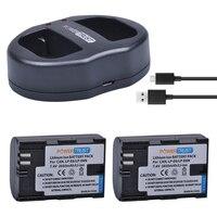 PowerTrust 2Pcs LP E6 LPE6 LP E6 Camera Batteries USB Dual Charger For Canon EOS 60D