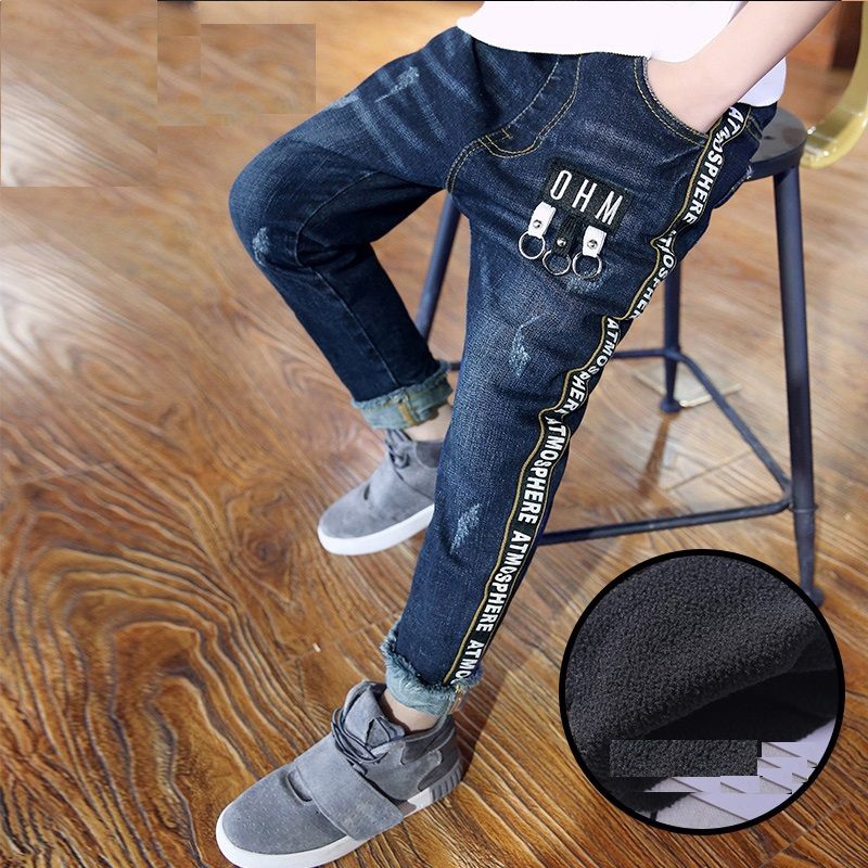retail 2018 autumn winter thickened pants boys jeans kids stylish fashion trousers pencil pants roupas infantis menina leggings