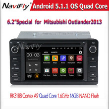 Android 5 1 1 Quad Core 1 6Ghz CPU Car GPS navigation Player For Mitsubishi Outlander