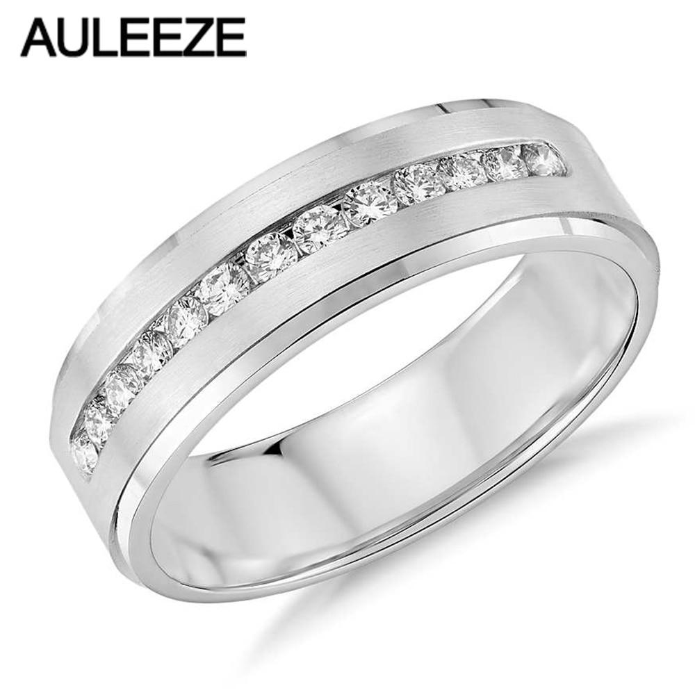 Us 5328 10 Offfashion Solid 14 K 585 Weiß Gold Hochzeit Ring Moissanites Lab Grown Diamant Kanal Set Engagement Ring Für Herren Feine Schmuck In