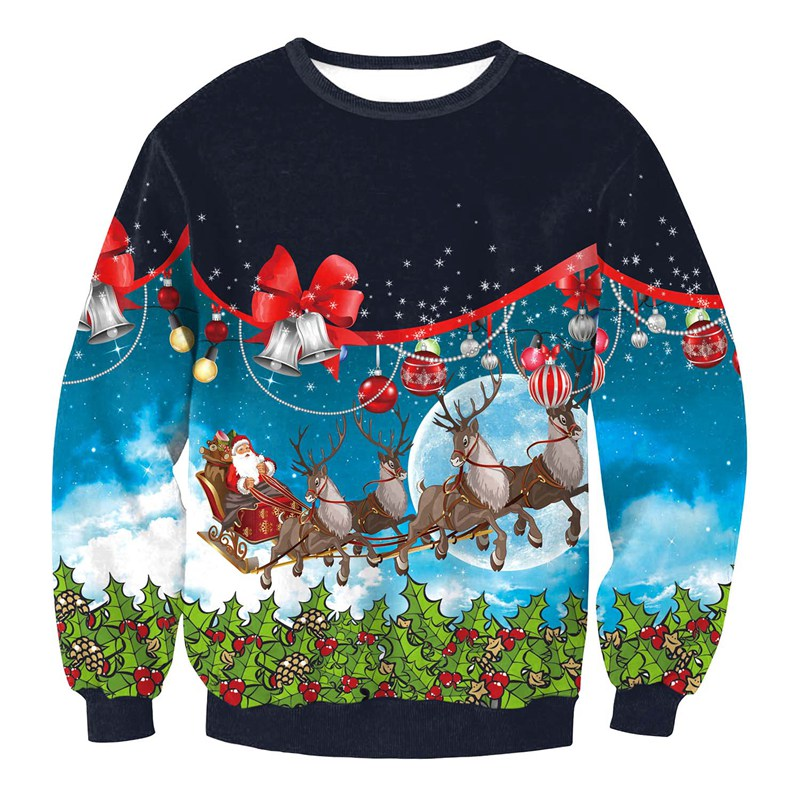 Unisex Men Women 2018 UGLY CHRISTMAS SWEATER Vacation Santa Funny Womens Men Sweaters Tops Autumn Winter Clothing